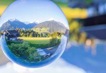 boule en verre illusion